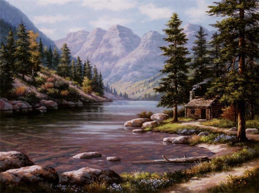 пейзаж с горами